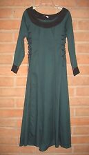 Chivalry Sports Renaissance DRESS Costume ~ Green Corset Lace Sides ~ Very Small