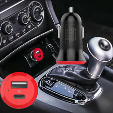Fast Charge Car Charger with Type C Female Output and Standard USB Output Black