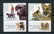Israel 2016 MNH Service Dogs 2v Set Guiding Blind Search & Rescue Dog Stamps