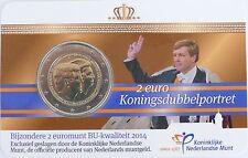 2 Euro commémorative des Pays-Bas 2014 Brillant Universel (BU) - Double Portrait
