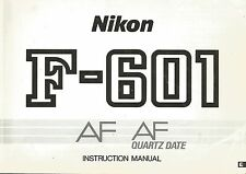 Nikon F-601 AF Original Instruction Book