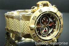 Men Invicta Subaqua Noma III Swiss Chronograph 18kt Gold Plated Brown Watch New