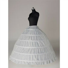 6-HOOP Wedding Ball Gown crinoline petticoat skirt slips Underskirt