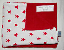 baby blanket red STARS cotton & fleece RED moses basket crib car seat COSATTO