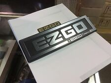 E-Z-GO  Golf cart front name plate OEM Silver