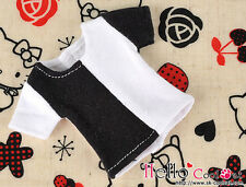 ☆╮Cool Cat╭☆238.【NE-01】Blythe Pullip Doll T-Shirt # Black+White