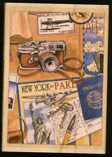 TRAVEL COLLAGE wood mounted RUBBER STAMP's Happen! New York Paris NEW USA made!