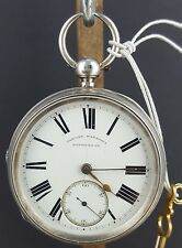 ANTIQUE LONDON 1890 - GREGORY MARSHALL SOLID SILVER POCKET WATCH - WORKING