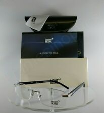 New Authentic MONT Blanc MB 337 016 Eyeglasses Black/Silver MB0337 Frame