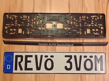 YOUR TEXT German License Plate e.G. MOVE OVER & Frame says Deutschland Germany