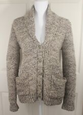 Womens Wilfred Free Aritzia Thick Brown Wool Alpaca Button Up Cardigan Sweater S