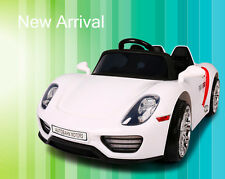 12V Kids Ride On Car Electric Power Wheels Remote Control Key Start Tunes White