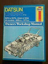 Nissan datsun cherry F11 100A 120A Haynes workshop manual 1976-1979