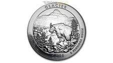 America the Beautiful ATB Glacier National Park Montana 5 oz Silber USA 2011