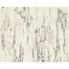 NEW AS CREATION DISTRESSED BEECH WOOD BARK PANEL FAUX EFFECT EMBOSSED WALLPAPER