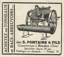 W6161 Abreuvoirs S. Fontaine & Fils - Bresles - Pubblicità 1934 - Advertising