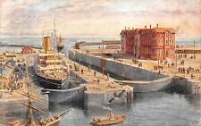 Grimsby, Immingham Deep Water Dock, Graving Dock, Entrance Lock 1912 ship