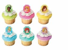 Disney Princess Gemstone cupcake rings (24) party favor cake topper 2 dozen