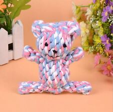 Popular Chew Knot Toy Bear Tough Strong Puppy Dog Pet Tug War Play Cotton Rope