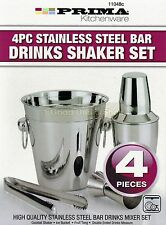 ACCIAIO INOX 4PZ IN AGITATORE COCKTAIL BAR MIXER SET KIT bere BARTENDER FILTRO