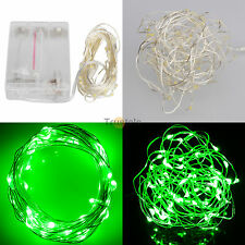 50LED Green Battery Power Operated LED String Fairy Lights Christmas Xmas Party