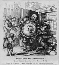 CHRISTMAS PANTOMIME AT TAMMANY HALL CLOWN PANTALOON PUBLIC TREASURY TAXES RENT