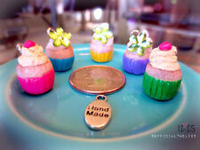 Polymer Clay Cupcake Charms - NEW (handmade)