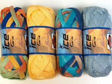 Lot of 4 x 100gr Skeins Ice Yarns SCARF YARNS MIXED LOT Scarf Yarn Mambo