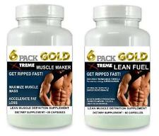 6 Pack Lean Muscle Growth Builder Pills Abs Bodybuilding Tablets X Ripped Energy