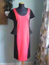 NEW Together Black & Red Colour Block Dress - Size 14