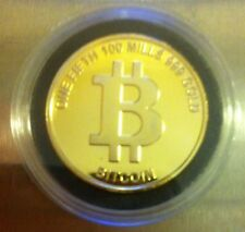 BITCOIN Physical 1/5 BTC Bit Coin 24k GOLD Plate Like CASASCIUS Lealana TITAN