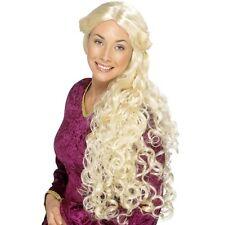 Donna Parrucca Rinascimento GIOCO DI Thrones Daenerys FANCY DRESS SPILLA aggrovigliati divertente