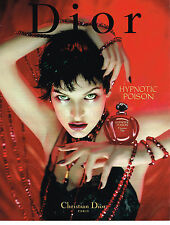 PUBLICITE ADVERTISING 094  1997  DIOR  parfum HYPNOTIC POISON   MILA JOVOVICH