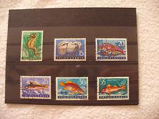 Fische und Meerestiere,Jugoslawien, 6 Briefmarken auf Steckkarte