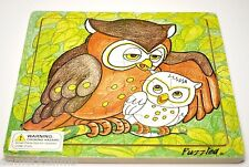 "OWL 20 pc Jigsaw Wood Puzzle 8""x8"" Educational Toy Wooden Woodcrafted Game"
