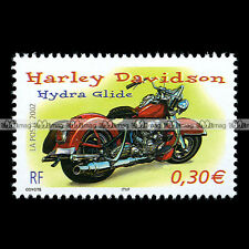 ★ HARLEY-DAVIDSON FL 1200 HYDRA GLIDE ★ FRANCE Timbre Moto Motorcycle Stamp #118