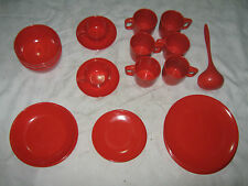Bulk Lot of Vintage Retro 70's Rosti Mepal Denmark Red Melamine Tableware