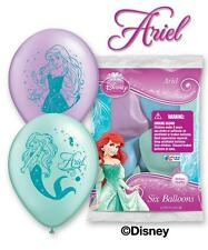 "6pc 12"" Little Mermaid Disney Princess Ariel Party Latex Balloons Happy Birthday"