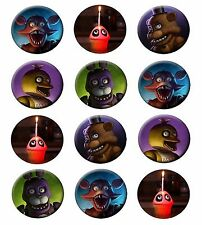 FIVE NIGHTS AT FREDDY'S edible cupcake toppers edible image decoration -12x2.5""