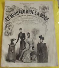 LE MONITEUR DE LA MODE N°44 31/10/1891 TOILETTES D'HIVER