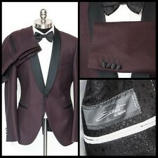 SARTORE Burgundy Event by Zignone Wool Flat Front Tuxedo Tux Suit 52 7 42 R NWT!