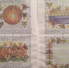 Halloween Thanks Giving 4 X Cross Stitch Charts And Cotton Guide