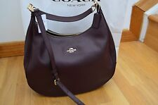 NWT Coach Harley Oxblood Maroon Leather Large Hobo Shoulder Hand Bag Purse 38259