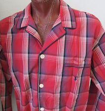 NWT Polo Ralph Lauren Pajama Top Pants Set Red Check Size XL (40-42)