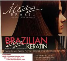 MIZZ BRAZILIAN KERATIN TREATMENT HAIR REPAIR SMOOTHING STRAIGHTENING- FULL KIT