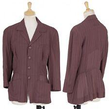 Jean Paul GAULTIER FEMME Stripe woven jacket Size 40(K-31884)