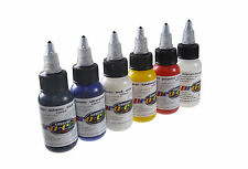 AIRBRUSH PAINT - PRO COLOR - TEST SET (KIT OF SIX 1OZ BOTTLES)