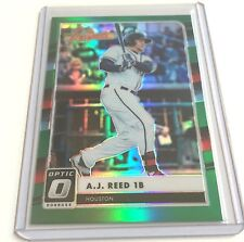 A.J. REED 2016 Donrus Optic Refractor Emerald GREEN HOLO RC ssp #d 1/5