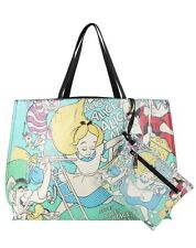 Disney Loungefly Alice In Wonderland Pop Art Falling Tote Bag Purse & Pouch NWT!