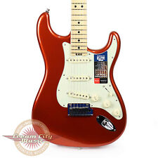 Fender American Elite Stratocaster Maple Neck in Autumn Blaze Metallic Demo